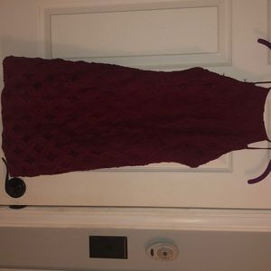 dark maroon dress